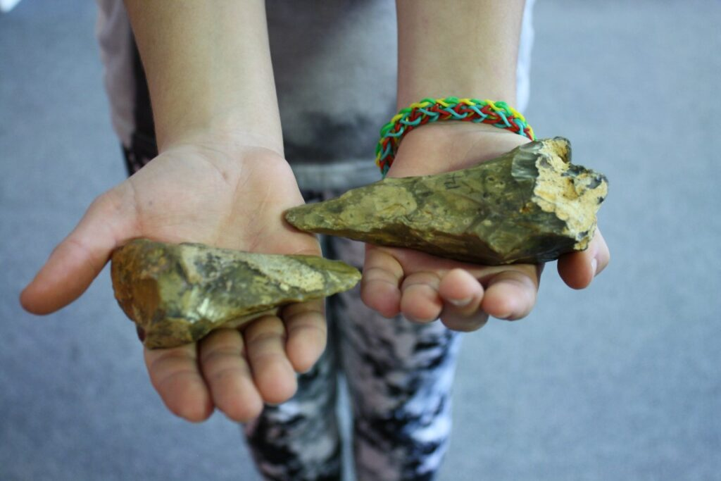 Handle real stone age artefacts in your classroom.