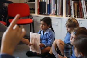 KS1 pupils discover the story of Alfred, a baker from Cookham who served in WW1