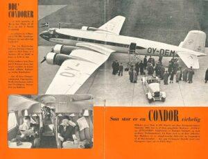 Danish Airlines Condor publicity material