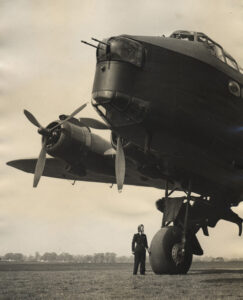 Short Stirling bomber with ATA pilot Joan Hughes