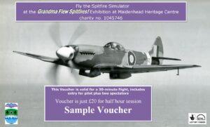 Spitfire Simulator Gift Voucher Website Sample