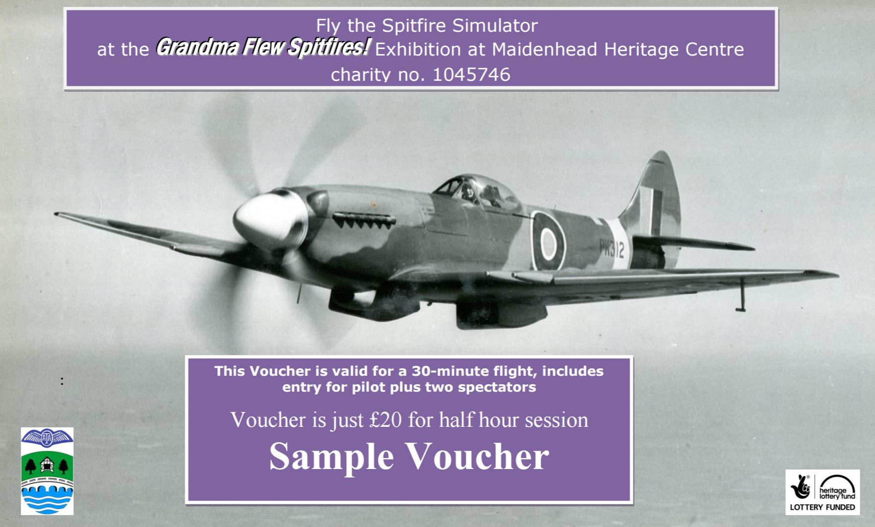 Spitfire Simulator Gift Voucher Website Sample