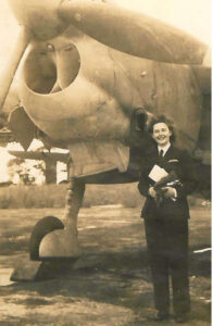 Betty Keith-Jopp poses with a Fairey Barracuda