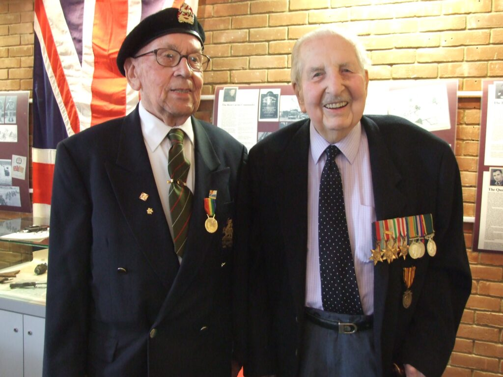 D Day veterans Ted Bond (left) and Harry Griffin (right) photographed at MHC in 2004 (the 60th anniversary)