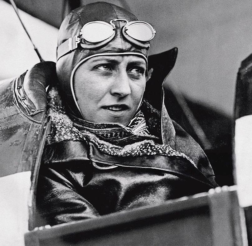 Johnson in her Gipsy Moth leaving Australia for Newcastle, 14 June 1930 - Photo: Age Newspaper